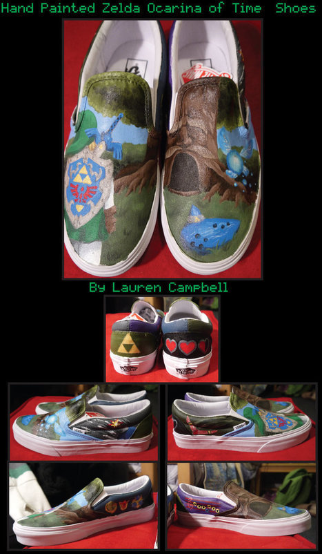Lovely Hand-Painted Ocarina of Time Shoes Are Made for Adventure | Geek On | Scoop.it