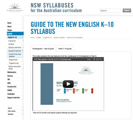 Navigation guides to the new syllabuses - Board of Studies News | NSW English K-10 syllabus | Scoop.it
