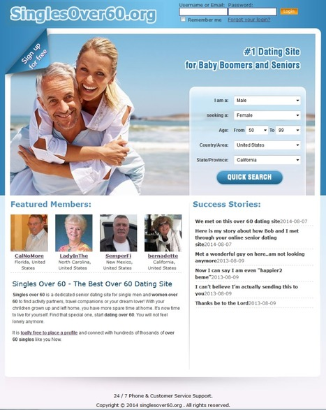 SinglesOver60.org connects local singles over 60 | Singles Over 60 | Over 60 dating | Scoop.it