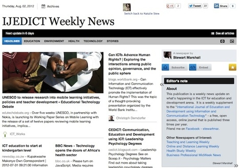 Aug 2 - IJEDICT Weekly News is out | Studying Teaching and Learning | Scoop.it
