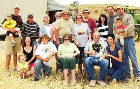 Etc - Wheat farming family gathers for photo - Walla Walla Union-Bulletin | Century & Centennial Farm News | Scoop.it
