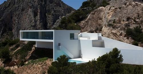 Alt maison contemporaine sur la falaise par fran silvestre arquitectos calp espagne - Maison s par domenack arquitectos ...