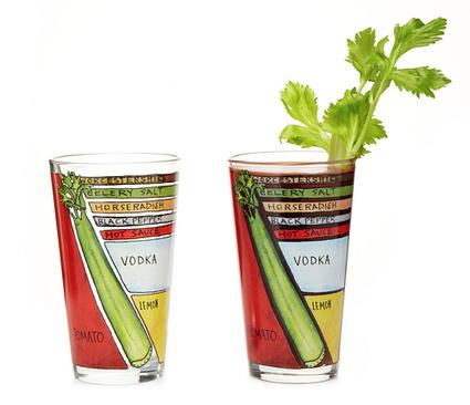 Vasos con «chuletas» gráficas para preparar cócteles Bloody Mary y Margarita | Curiosidades y Ocio | Scoop.it