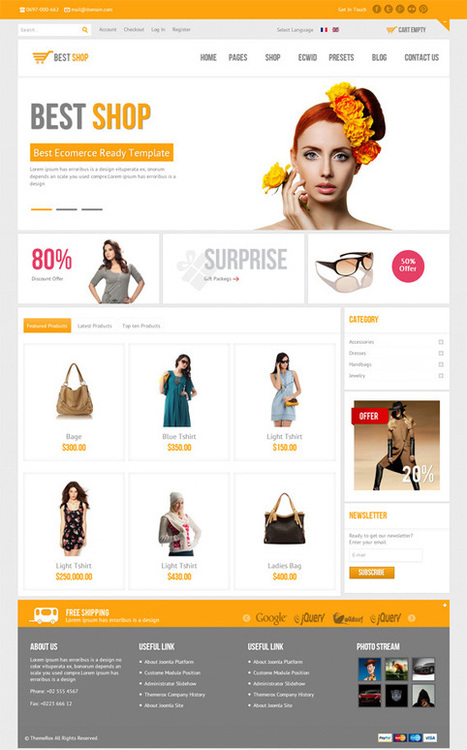 BestShop, Joomla E-Commerce HTML5 Virtuemart Template | Premium Download | good site | Scoop.it