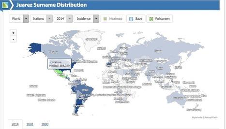 Cette carte vous indique où vivent les gens qui ont le même nom que vous   Périples et pérégrinations   Scoop.it