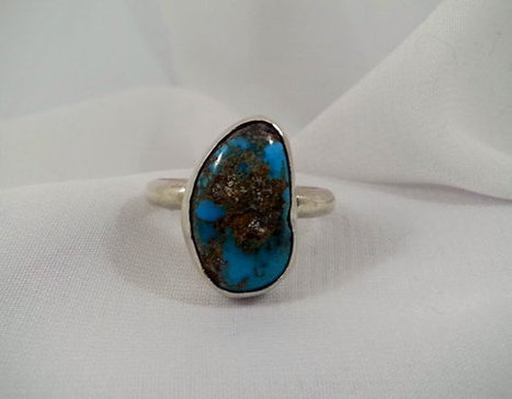 Blue Turquoise Ring Handmade Native American Sterling Silver Size 10 | Vintage Jewelry and Fashions | Scoop.it