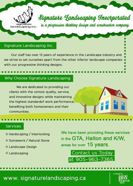 Signature Landscaping Incorporated Infographic: 15yrs in the Landscape Industry :: Landscaping Tips   Landscape Guide   Scoop.it