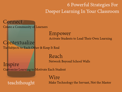 6 Powerful Strategies For Deeper Learning In Your Classroom | TeachThought | 21st Century Teaching and Technology Resources | Scoop.it