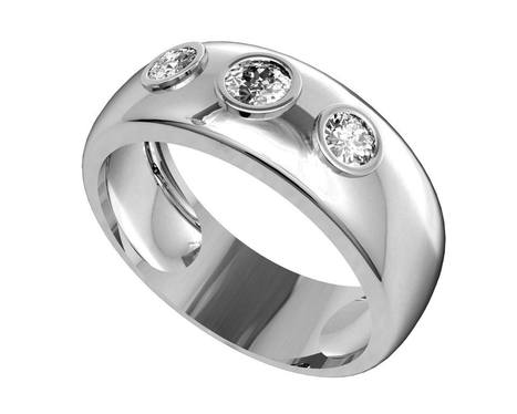Buy Aaron Gent's Wedding Band | Diamond Solitaire Ring | Scoop.it