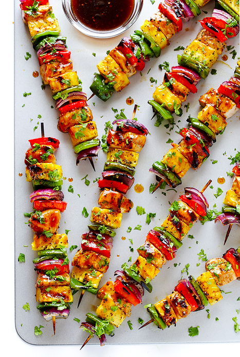 Rainbow Hawaiian Chicken Kabobs | Gimme Some Oven | Passion for Cooking | Scoop.it
