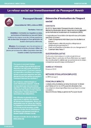 Le retour social sur investissement de Passeport Avenir | Avise.org | Finance et économie solidaire | Scoop.it