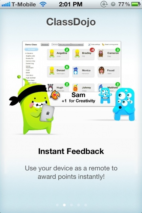 ClassDojo's new mobile app helps teachers give real-time student feedback - GigaOM | Formative assessment & feedback | Scoop.it