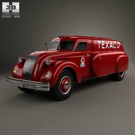 3D model of Dodge Airflow Tank Truck 1938   3D models   Scoop.it