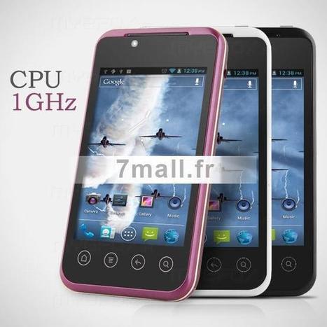 B3000 MTK6515 1GHz Android 4.0 téléphone mobile avec 3.5 pouces écran tactile double carte double caméra - 7mall.fr | 7mall | Scoop.it