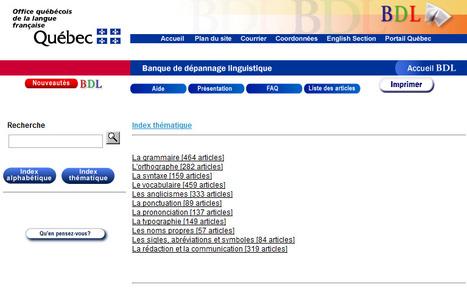 Banque de dépannage linguistique   TICE & FLE   Scoop.it