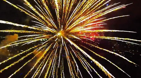▶ Fireworks filmed with a drone - YouTube | READ | WATCH | LISTEN | Scoop.it