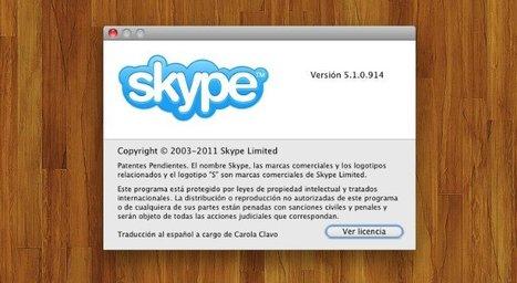 Skype para Mac OS X llega a la versión 5.1 con un concurso para mejorar su interfaz | Mis gatgets 2.0 en la red | Scoop.it