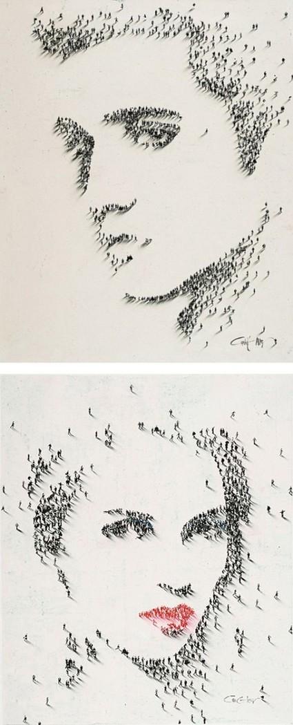 Quand la foule crée des oeuvres d'art en pixels | Publiz - Inspiration graphique et publicité créative | Un peu de tout... | Scoop.it