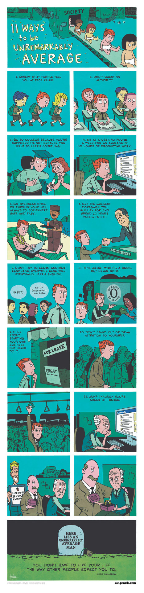 11 Ways To Be Unremarkably Average #Infographic | Soup for thought | Scoop.it