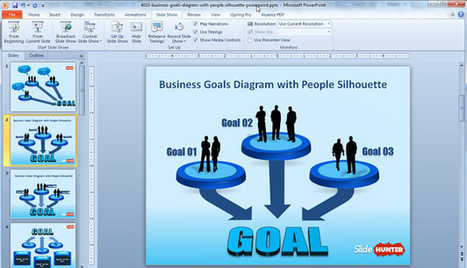 Business Goals Diagram Template for PowerPoint With People Silhouette | presentation templates | Scoop.it