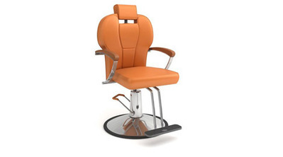 Fauteuil orange coiffeur 3D | 3D Library | Scoop.it