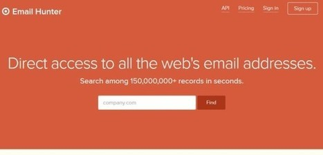 Outil : trouver facilement les mails de contact d'une entreprise | Time to Learn | Scoop.it