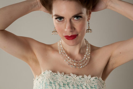 Vintage 1960s Aurora Borealis Earrings Crystal Chandelier | contracted | Scoop.it