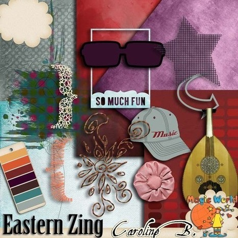Eastern Zing More - $2.99 : Caroline B., My Magic World of Digital Design | SCRAPBOOKING | Scoop.it