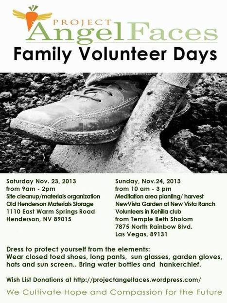 Project AngelFaces National Family Volunteer Day at New Vista Ranch | Vertical Farm - Food Factory | Scoop.it