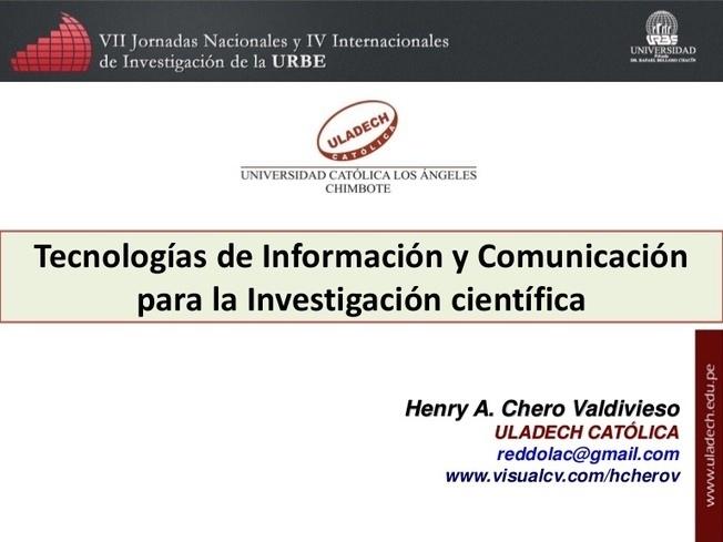 Tecnologías de Información y Comunicación para la Investigación Cie...