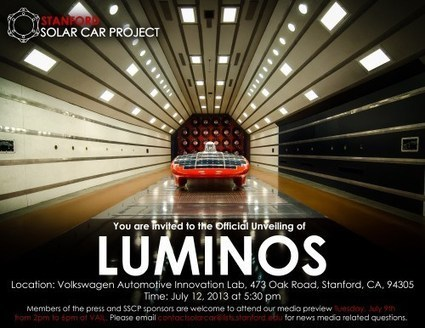 "2013 Stanford Solar Car Project ""Luminos"" Unveiling 