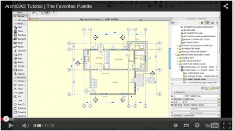 ArchiCAD Tutorial | Video Tip - The Favorites Palette | AppliCAD Indonesia | Scoop.it