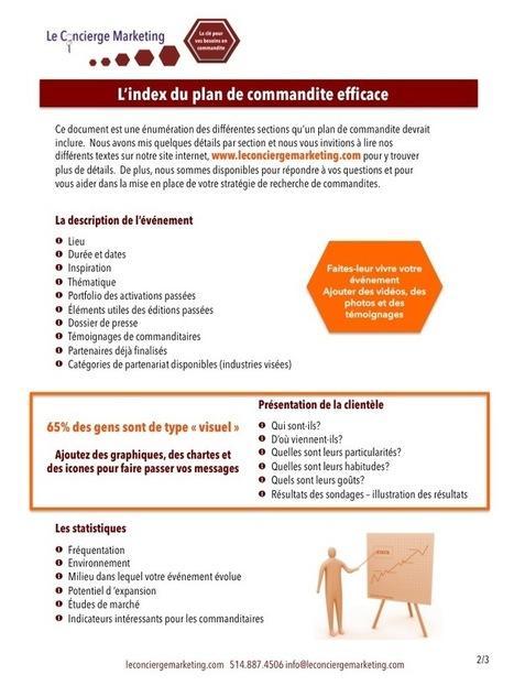 L'index du plan de commandite efficace - Le Concierge Marketing | Commandite | Scoop.it