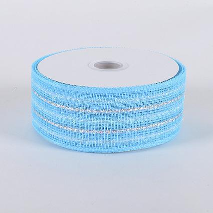 Light Blue Laser Metallic Mesh Ribbon 25 Yards | FuzzyFabric | Scoop.it