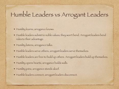 About Arrogance, Success and Humility | Conscious Leadership | Scoop.it