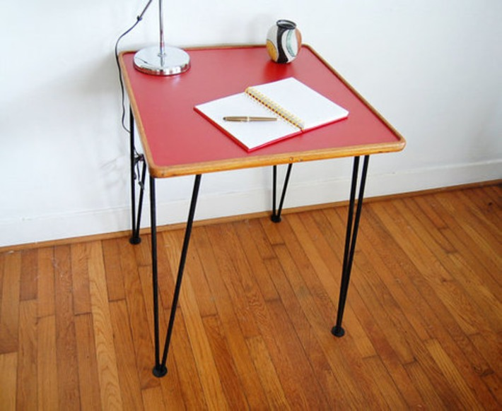 Table with Hairpin Legs and Laminate Top | Antiques & Vintage Collectibles | Scoop.it