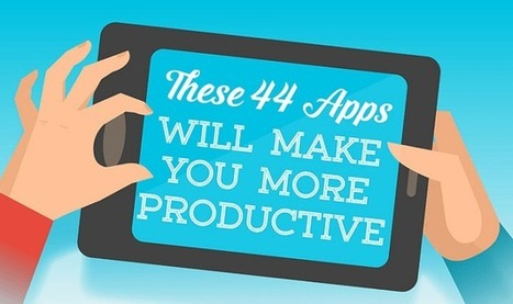 44 Apps That Will Make You More Productive - #infographic | To learn or not to learn? | Scoop.it