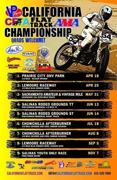 UPDATED CFTA SERIES POSTER - FINALLY!  The Sac Mile has kept us slammin' busy, s... | California Flat Track Association (CFTA) | Scoop.it