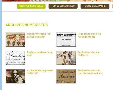 Créer un lien vers un document numérisé sur le site des Archives départementales de la Marne | GenealoNet | Scoop.it