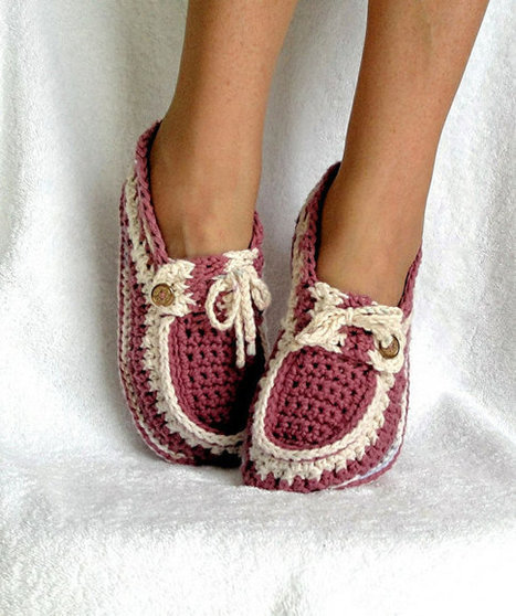 Instant Download - Crochet Pattern - Adult Button Loafers Slippers PDF 16 | www.fitflopfrousandalsuk.co.uk | Scoop.it