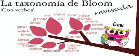 La taxonomía de Bloom revisada y con una buena colección de verbos | TIC Educativa | Scoop.it
