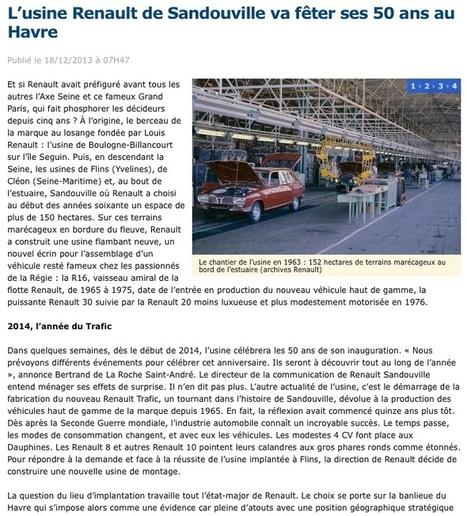 L'usine de Sandouville va fêter ses 50 ans | Renault 16 | Scoop.it