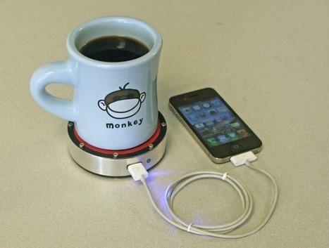 Charge your phone with your morning cup o' joe - carga la batería de tu teléfono móvil con el calor de tu taza de café | VIM | Scoop.it