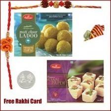 Haldiram Motichoor Ladooi Soan Papadi Rakhi Pack - Send Rakhi to Canada   Rakhi Gifts to India, USA, UK, Canada, Australia   Scoop.it