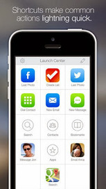 """Shortcuts to your iPhone features with """"Launch Center Pro"""" 