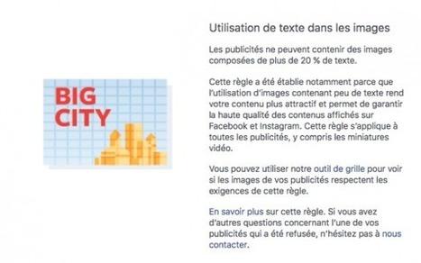 Vous pouvez utiliser plus de 20% de texte sur les images des publicités Facebook | Social Media Curation par Mon Habitat Web | Scoop.it