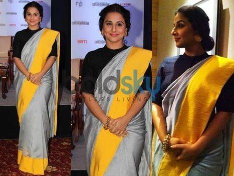 Vidya Balan In Saree By Payal Singhal   one-piece dress   Scoop.it