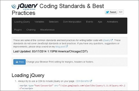 jQuery Coding Standards & Best Practices | jQuery By Example | jQuery By Example | Scoop.it