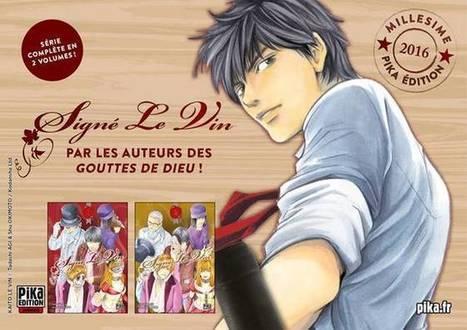 """Le manga """"Signé le Vin"""" annoncé chez Pika   Manga Mag   littérature jeunesse   Scoop.it"""