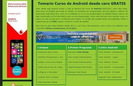 AprendeAndroid: curso de programación Android con Eclipse | E-Learning, M-Learning | Scoop.it